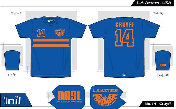 LA Aztecs No.14 Cruyff