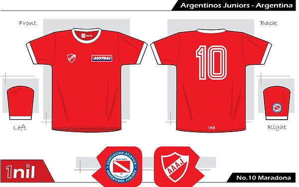 Argentinos Juniors 1979 - No.10 Maradona