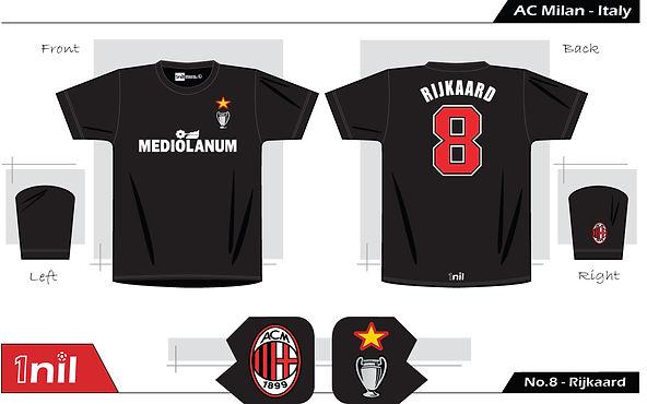 AC Milan 1989 - Mediolanum No.8 Rijkaard