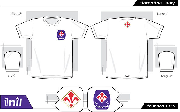 Fiorentina retro football shirt