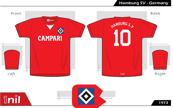 Hamburg SV football shirt