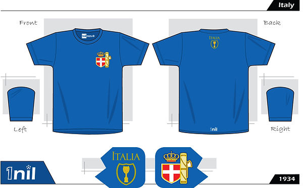 Italy retro football shirt
