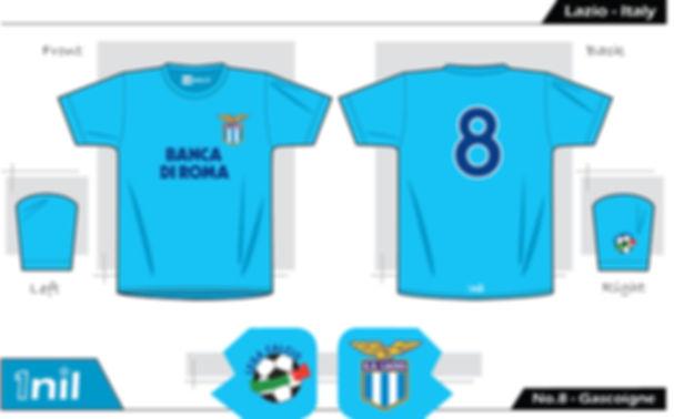 Lazio 1992 - No.8 Gascoigne
