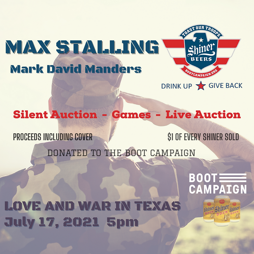 Max Stalling - Shiner Toast The Troops Fundraiser
