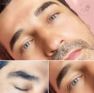 Microblading procedure just after initial session