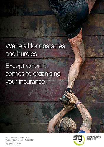 ostacle course insurance poster, event insurance specialists