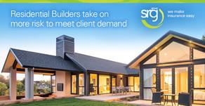 Residential builders take on more risk