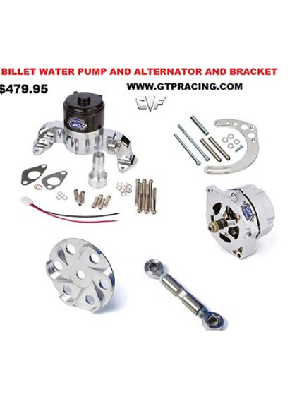Chevy Small Block  System, Alternator  - Electric Water Pump And bracket