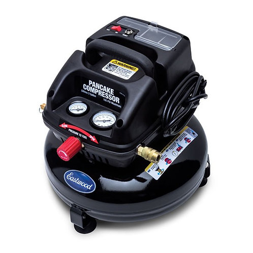 EASTWOOD 3 GALLON OIL-LESS PANCAKE AIR COMPRESSOR