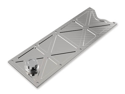 HOLLEY LS VALLEY COVER WITH OIL FILL - NATURAL BILLET