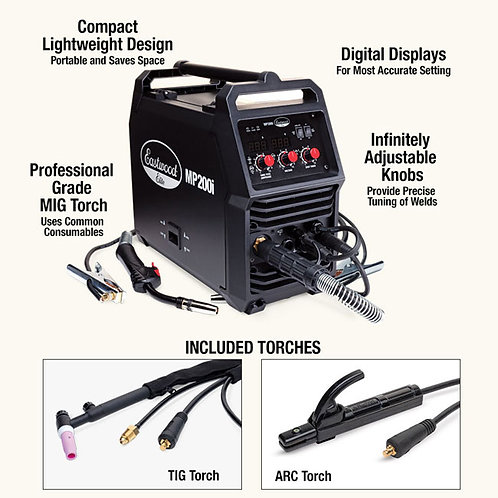 EASTWOOD MULTI PROCESS WELDER - MIG, TIG, STIC 20569