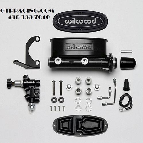 WILWOOD Aluminum Tandem M/C Kit with Bracket and Valve