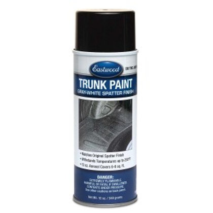 EASTWOOD TRUNK PAINT GRAY WHITE AEROSOL 12 OZ