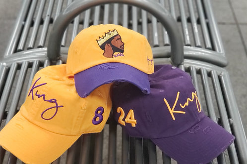 "King ""kobe"" dad hat (Lakers color way)"