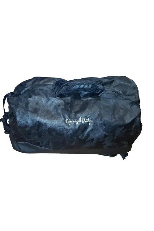 O.u black camouflage duffle/book bag