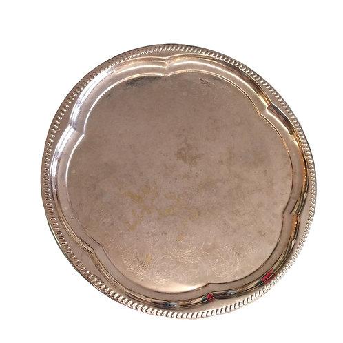 Large Round Metal Platter