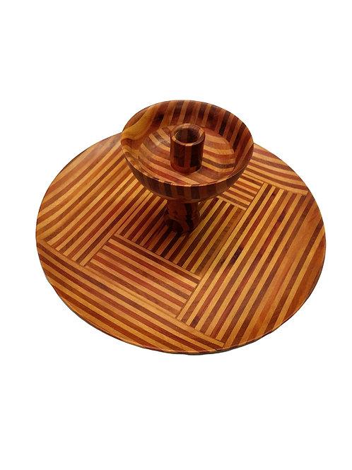 Handmade Wood Center Piece Candle Holder