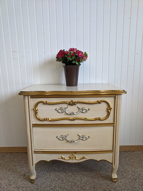 French Provincial 2 Drawer Night Stand