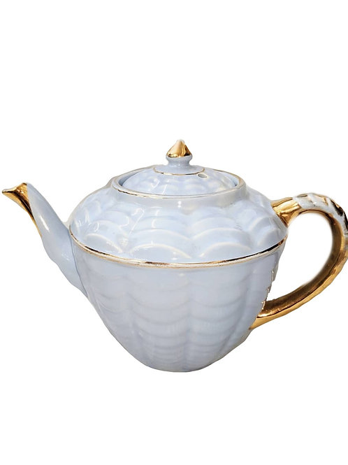 Blue and Gold Tea Pot
