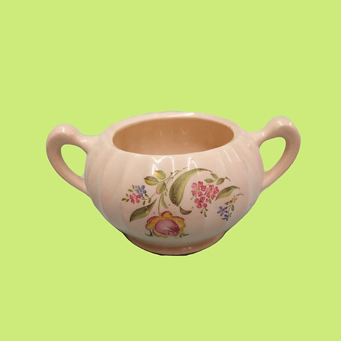 Pink Floral Sugar Bowl