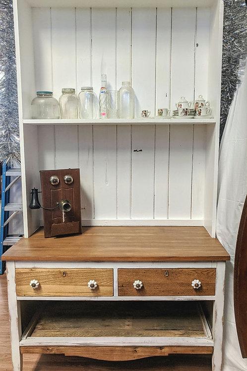 2 Piece White Hutch w| Dresser