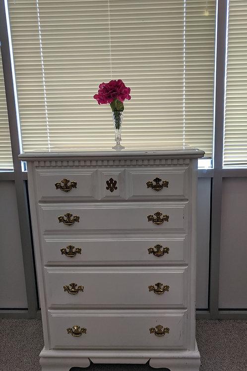 Set of 2 White Bassett Dressers