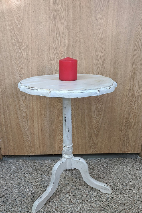 White Painted End Table