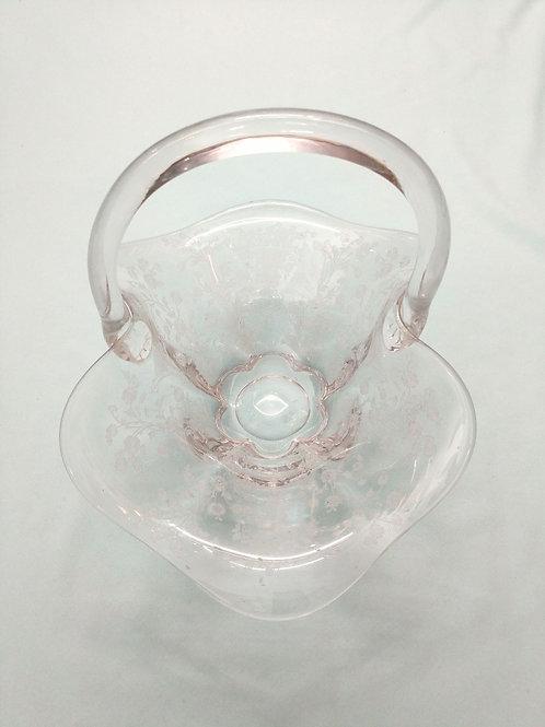 Large Glass Flower Basket
