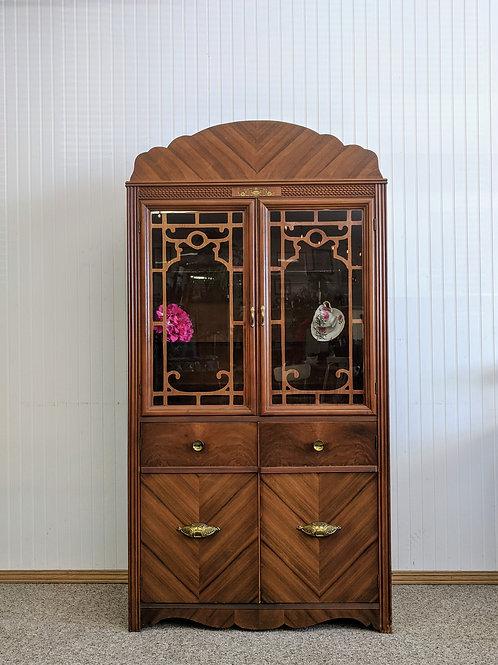 4 Door Vintage China Hutch