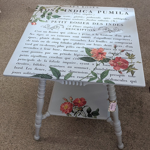 Gray Floral Table