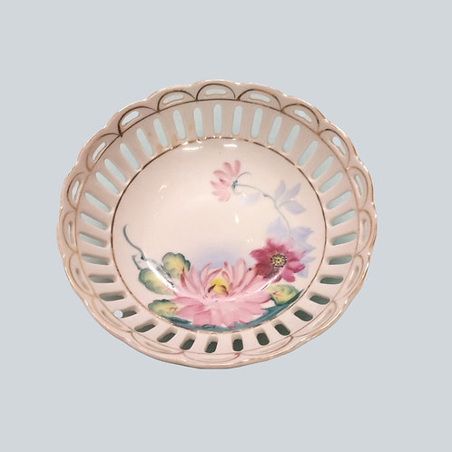 Hand Painted Japanese Flower Dish