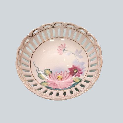Hand Painted Japanese Flower Dish
