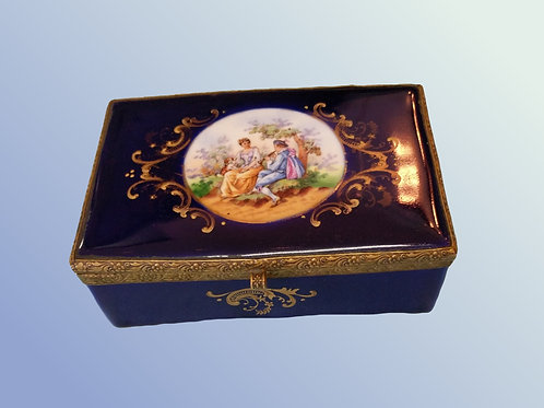 Dark Blue Jewelry Box