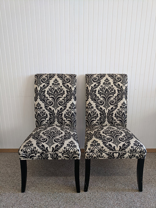 Set of 2 Black and White Chairs