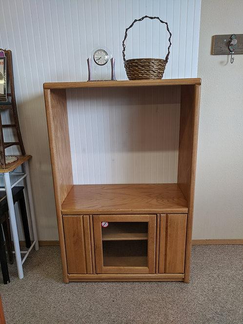 Oak Tall TV Stand