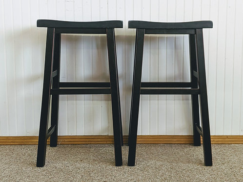 Set of 2 Black Bar Stools