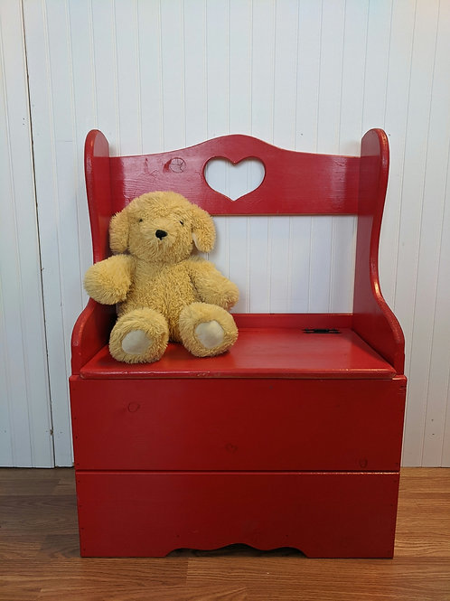 Kids Red Storage Bench