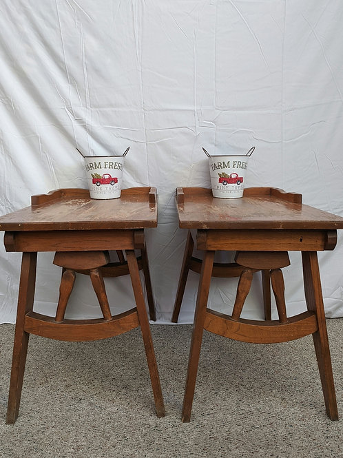 Set of 3 Wagon Wheel Tables