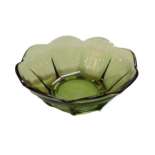 Small Green Glass Dish