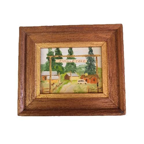 "Mini ""Single Tree"" Ranch Painting"