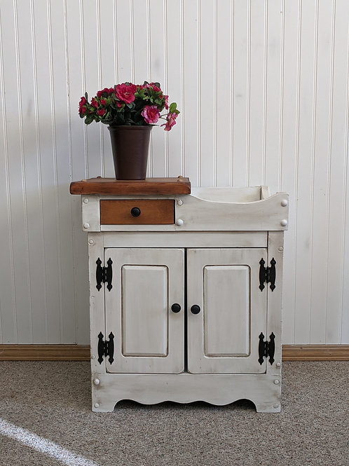 White 2 Door Night Stand