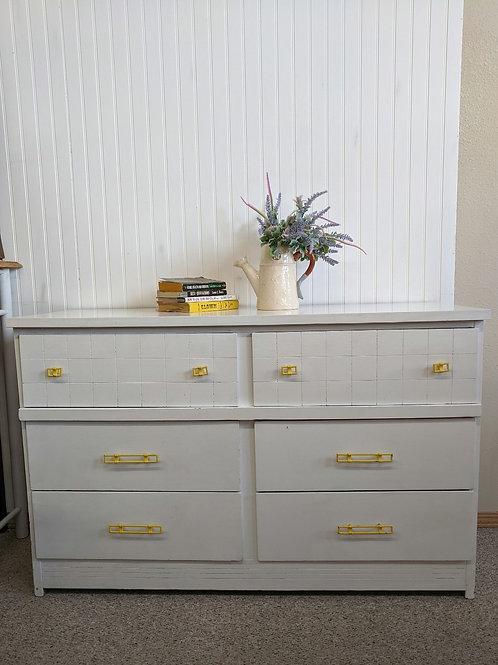 6 Drawer White Dresser
