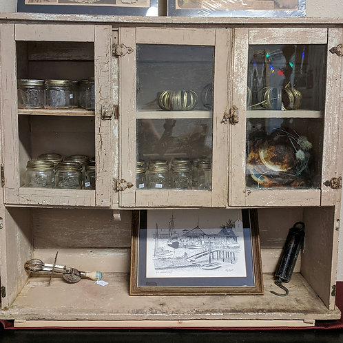 Tan Antique Chippy Hutch