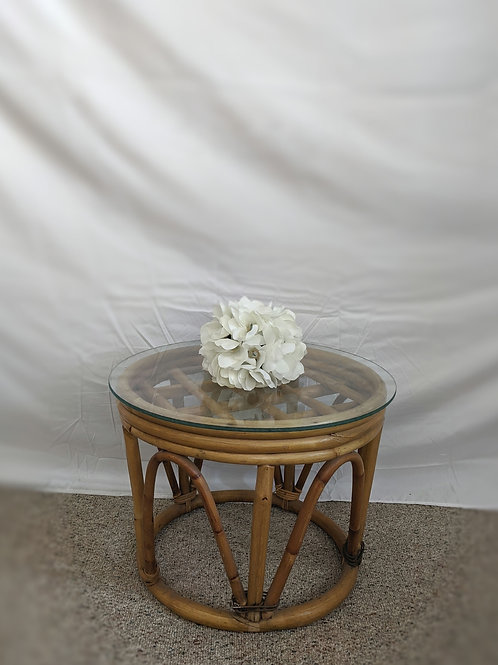 Bamboo Table w| Glass Top