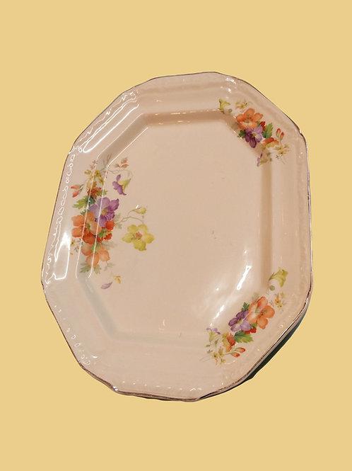 Decorative Floral Platter