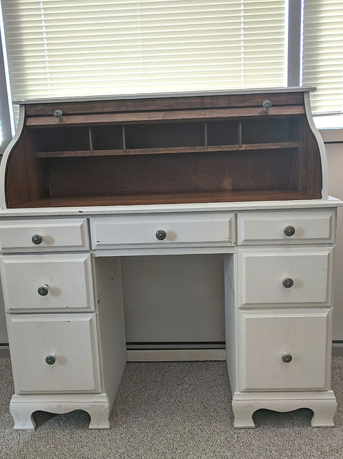 White Rolltop Desk