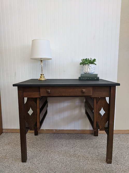 Brown & Black Desk