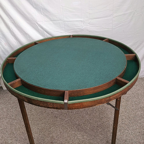 Vintage Folding Poker Table