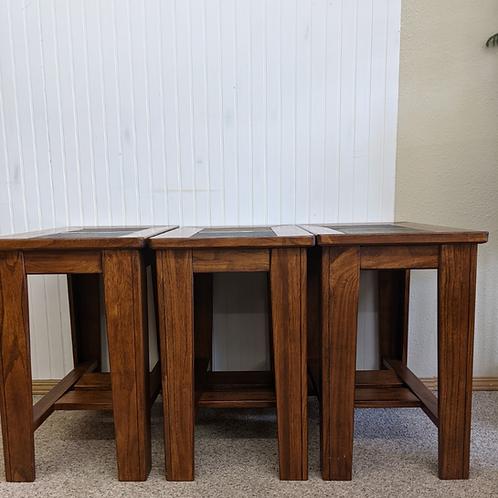 Slate Top End Table (ONE LEFT)