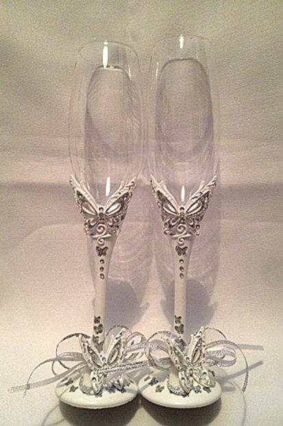 Свадебные бокалы Бабочка